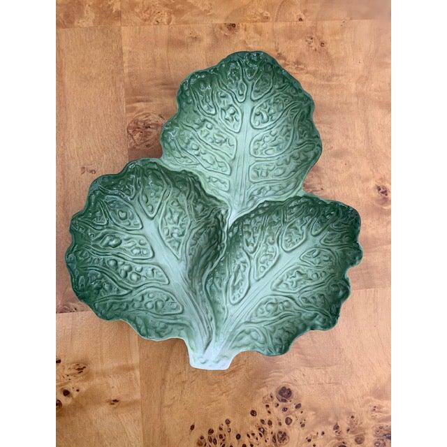 1980s French Vintage Lettuce Leaf Plate For Sale - Image 5 of 5