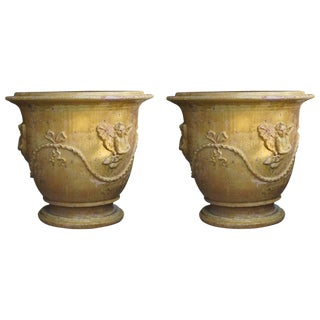 French Anduze Planter Pots - a Pair For Sale