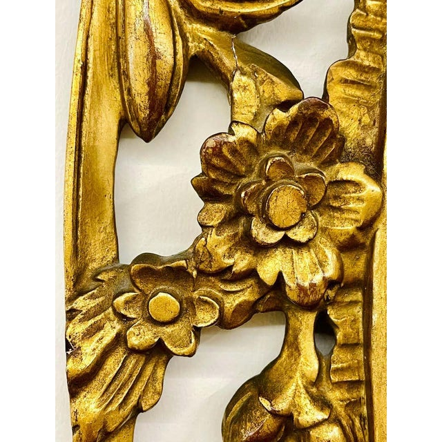 Gold Pair Gilt Wood Wall or Console Mirrors For Sale - Image 8 of 12