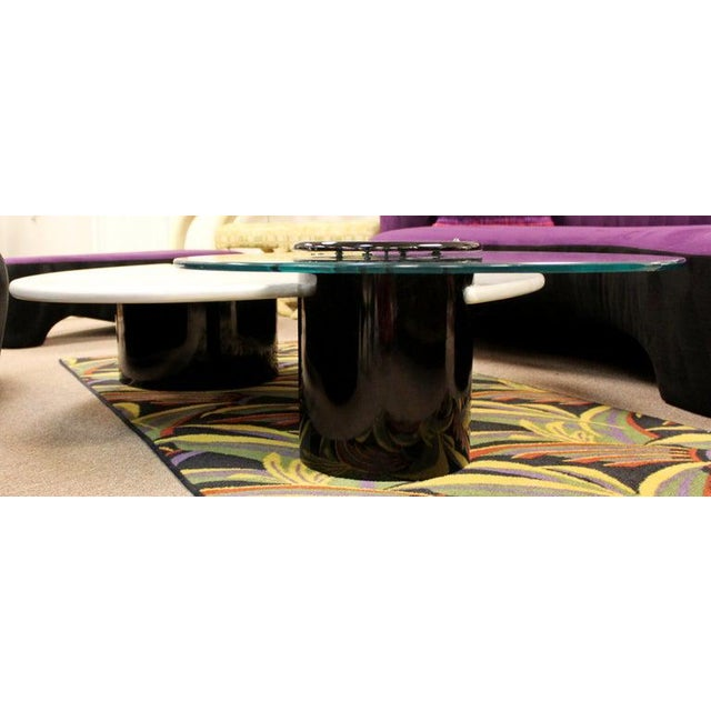 White Postmodern Modernist Rougier Articulating 3-Tier Coffee Table, 1980s For Sale - Image 8 of 11