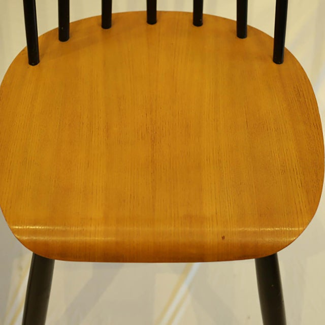 Imari Tapiovaara Teak and Black Lacquered Dining Chairs, Circa 1940-1949 - a Pair For Sale In San Francisco - Image 6 of 8