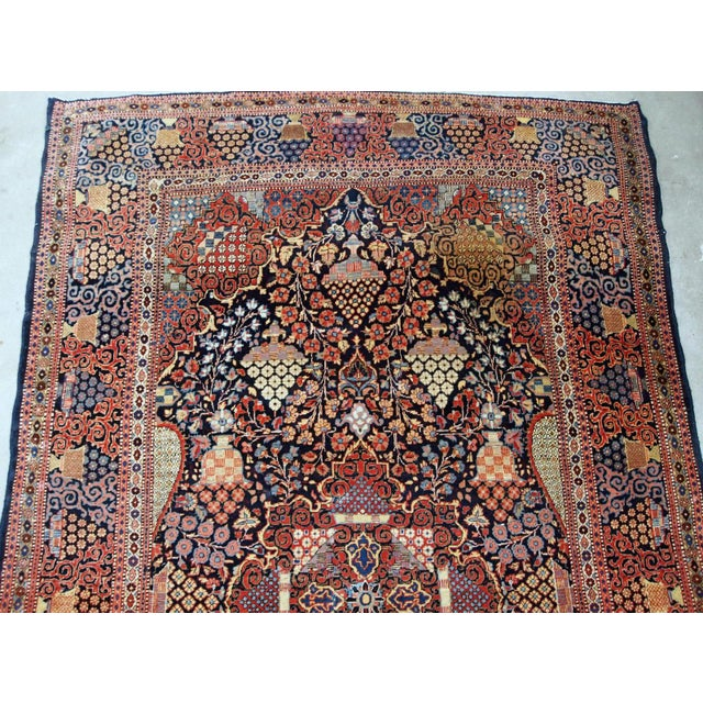 1880s, Handmade Antique Persian Dabir Kashan Rug 4.1' X 6.2' For Sale - Image 9 of 12