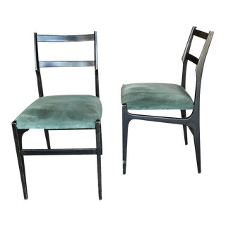 Pair of Gio Ponti Leggera Dining Chairs For Sale