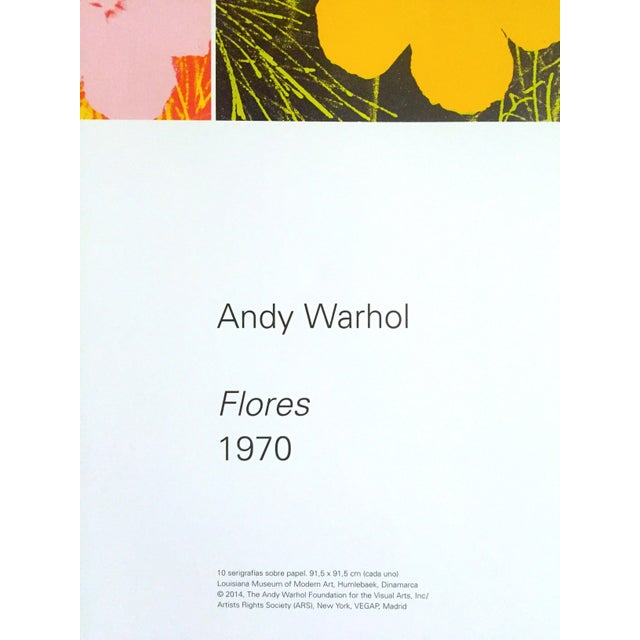 """Andy Warhol Foundation """" Myths of Pop """" Museo Thyssen Lithograph Print Pop Art Exhibition Poster """" Flowers """" 1970 For Sale - Image 9 of 13"""
