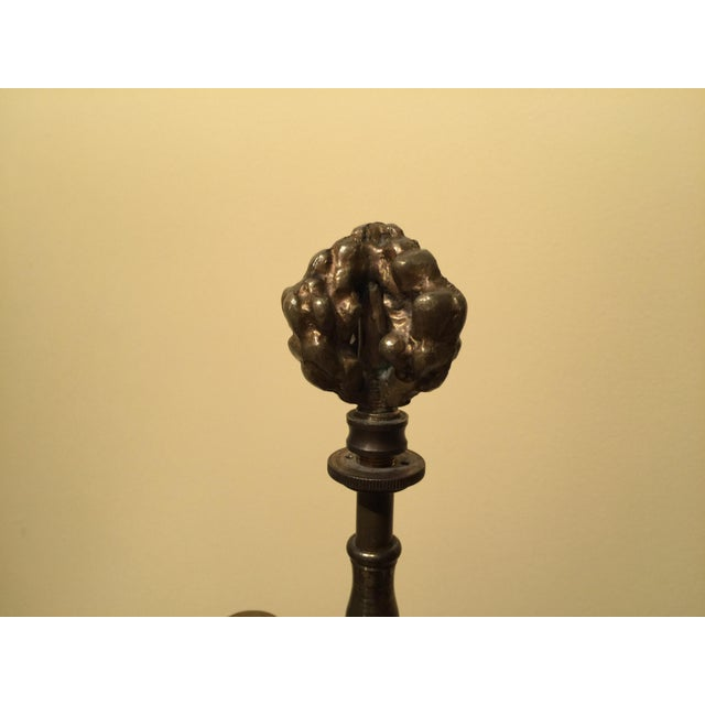 Vintage Brass Plant Table Lamp - Image 8 of 8