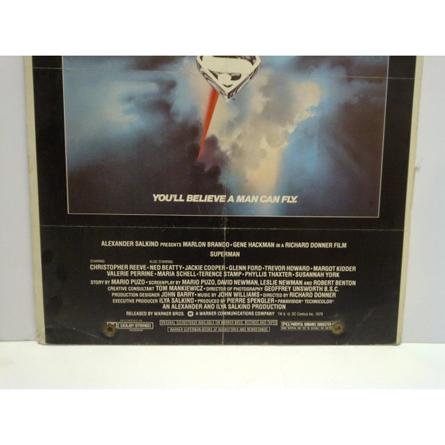 """American """"Superman"""" Mounted Movie Poster For Sale - Image 3 of 6"""