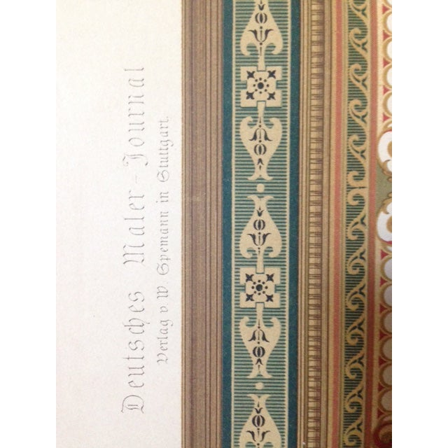 German Architectural Decorative Chromolithograph - Image 4 of 4