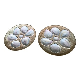 19th Century Royal Worcester Oyster Plates - a Pair For Sale