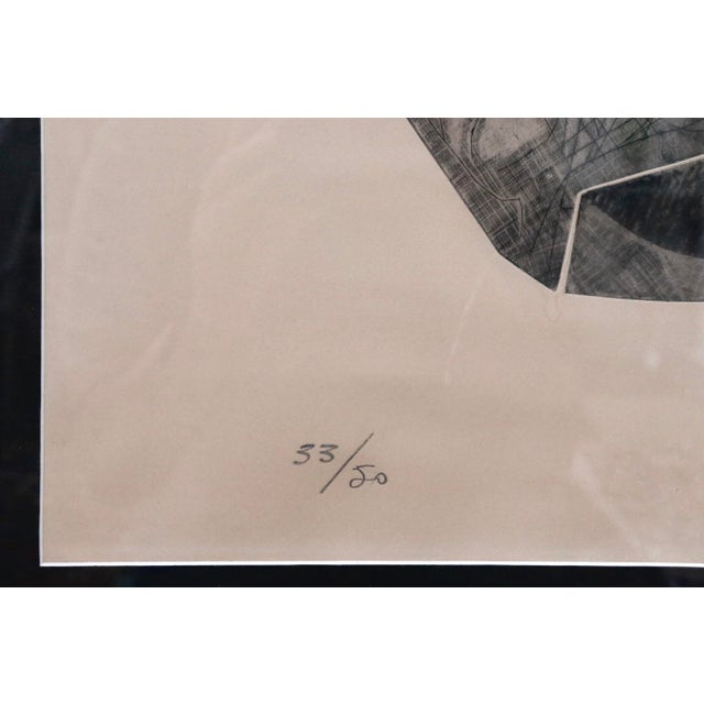 1950s Signed French Abstract Graphite on Paper For Sale - Image 5 of 10