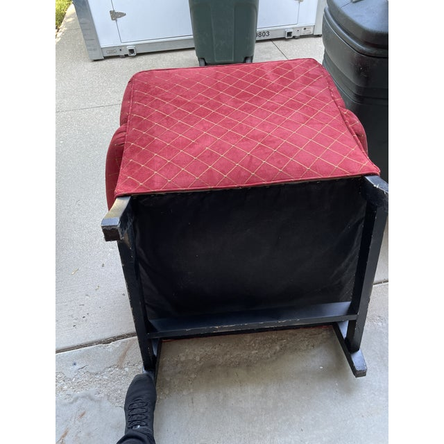 Steve Chase Associates Red Upholstered Chair For Sale - Image 4 of 8