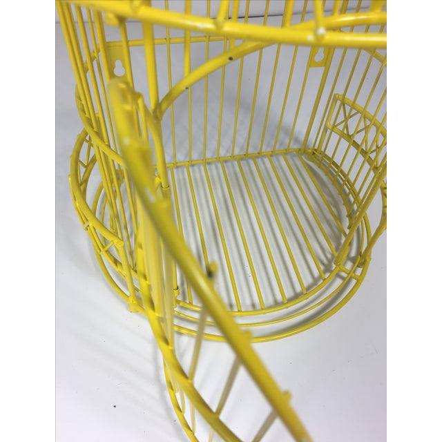 Canary Yellow Chinoiserie Birdcage - Image 3 of 7
