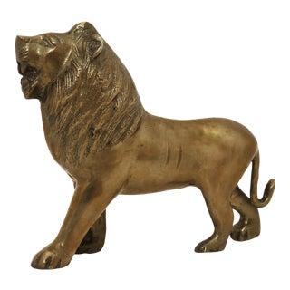 Vintage Brass Lion Figurine For Sale