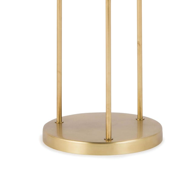 Rio Triple Floor Lamp in Natural Brass For Sale - Image 4 of 5