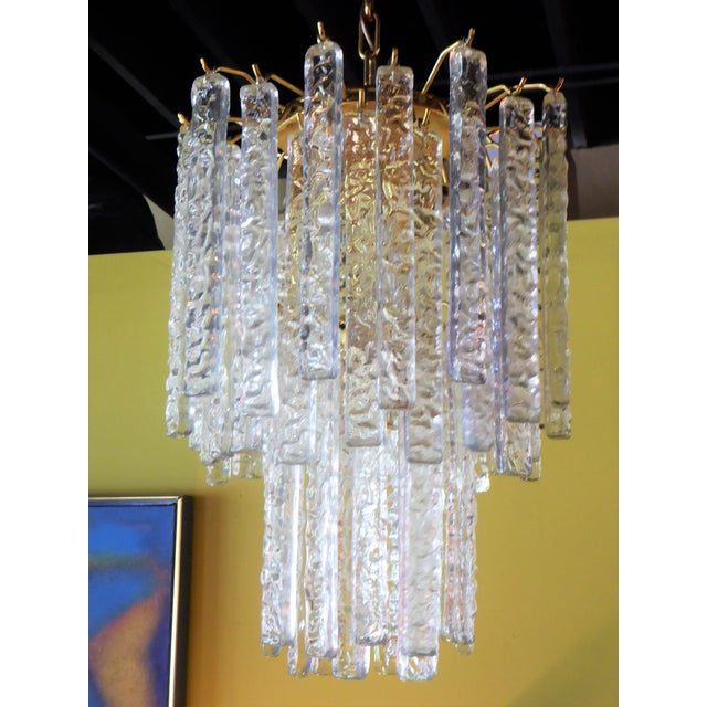 1960s Mid-Century Modern Mazzega Murano Textured Crystal Chandelier For Sale - Image 12 of 12