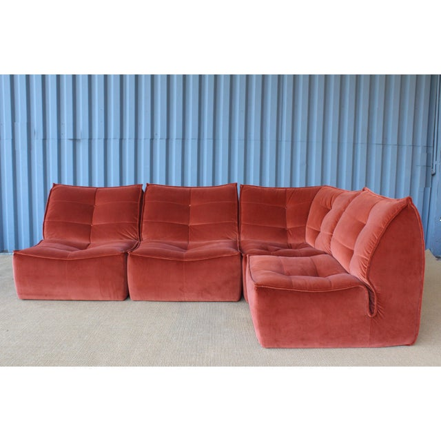 Four-Piece Sectional Sofa, Italy, 1960s For Sale In Los Angeles - Image 6 of 12