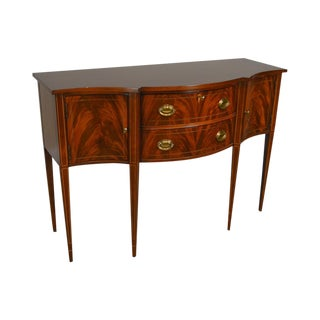 Hickory Chair Historical James River Plantation Flame Mahogany Inlaid Federal Sideboard For Sale