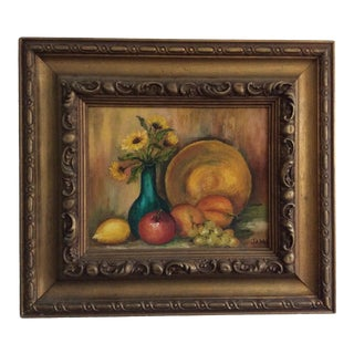 American Oil Painting of Fruit For Sale