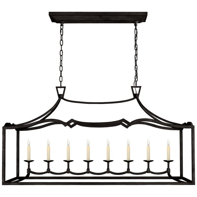 Visual Comfort Chapman & Myers Darlana Eight Light Linear Pendant For Sale