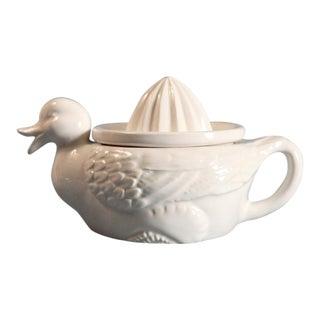 White Porcelain Duck Juicer For Sale