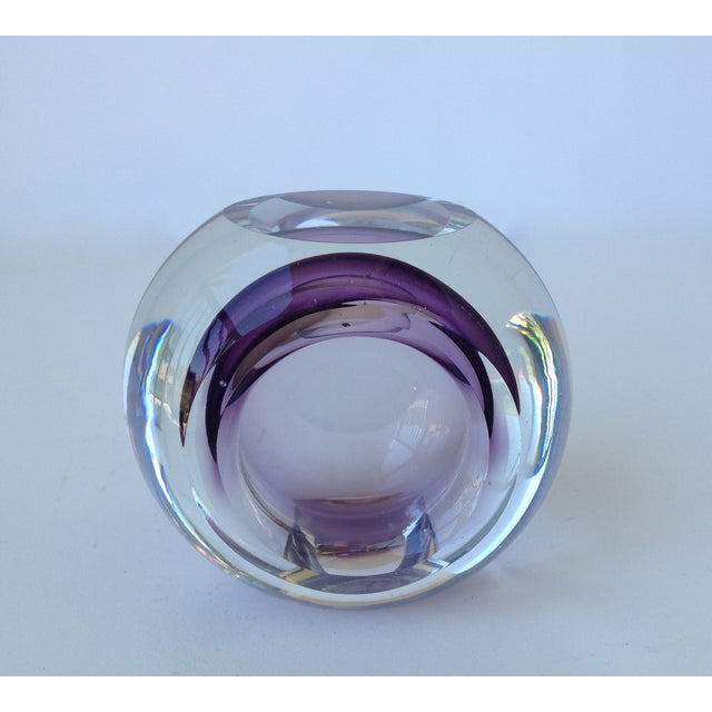 Italian Murano Sommerso Purple & Clear Bowl For Sale - Image 10 of 11