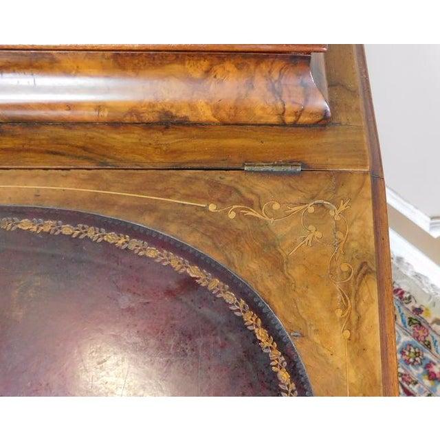 Victorian English Burl Walnut Davenport Desk - Image 7 of 9