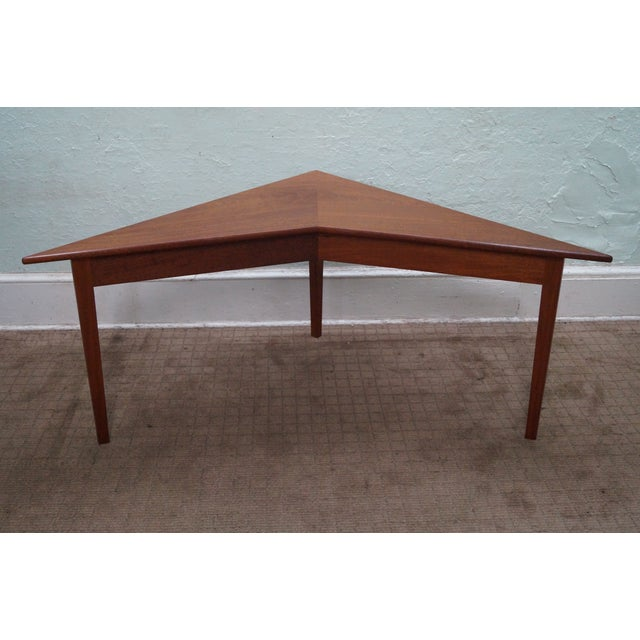 Mid-Century Modern Mid Century Modern Studio Made Triangle Low Table For Sale - Image 3 of 10