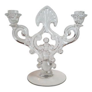 Crystal 1441 Key Hole Candelabrum by Cambridge For Sale