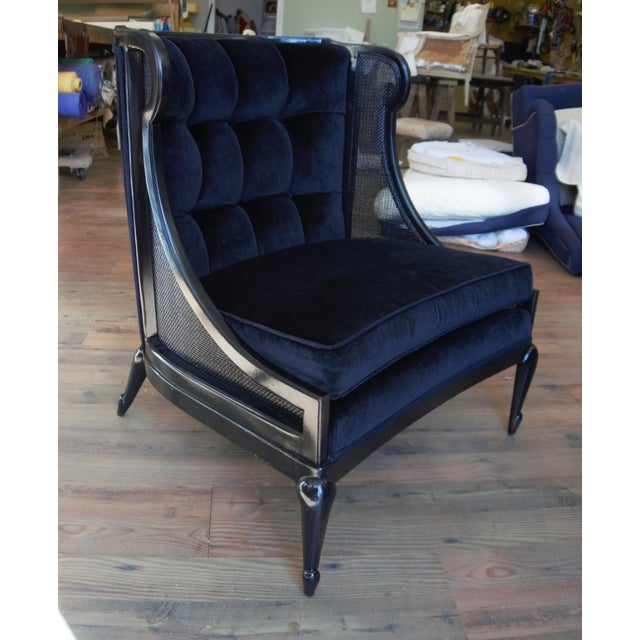 1960s Vintage Ponti Inspired Ebonized High Style Mastercraft Club Chair For Sale - Image 10 of 13