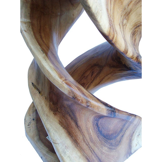Hand Carved Solid Teak Stool/Side Table - Image 5 of 5