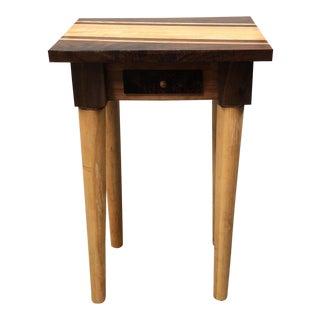 John Borden Handcrafted Maple & Black Walnut End Table
