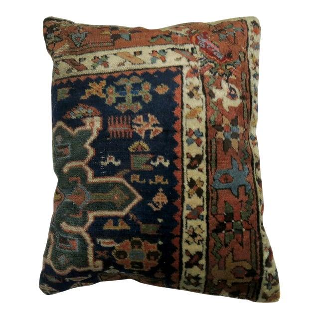 Antique Heriz Rug Pillow For Sale