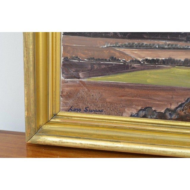 Mid-Century Modern Landscape Painting by Lars Swane For Sale - Image 3 of 5