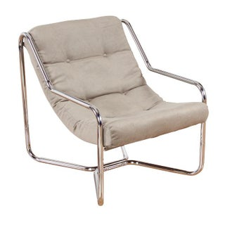 Vintage 1970s Restored Chrome Sling Chair