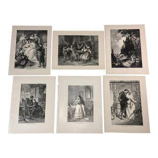 1892 Antique Characters From Goethe's Works Prints - Set of 6 For Sale