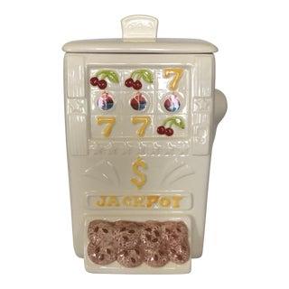 1980s Ceramic Slot Machine Cookie Jar