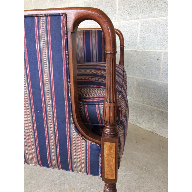 Fabric Southwood Mahogany Accent Chairs - a Pair For Sale - Image 7 of 11