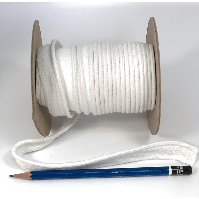 """2010s Braided 1/4"""" Indoor/Outdoor Cord in Bright White For Sale - Image 5 of 8"""