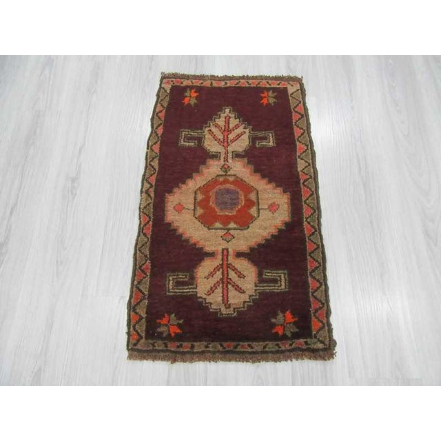 Islamic Vintage Turkish Kars Rug - 2′1″ × 3′4″ For Sale - Image 3 of 4