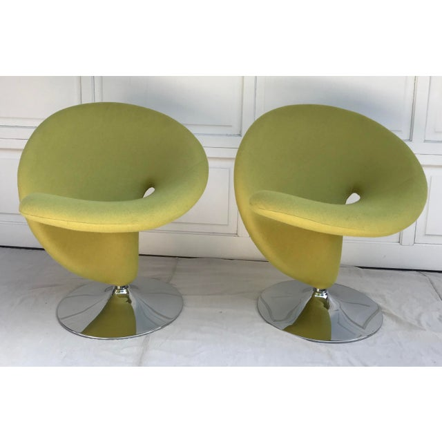 Green 1980s Vintage Post Modern Spiral Chairs- A Pair For Sale - Image 8 of 8