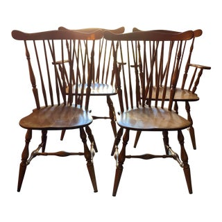 Mid-Century Modern Heywood Wakefield Dining Chairs- Set of 4 For Sale