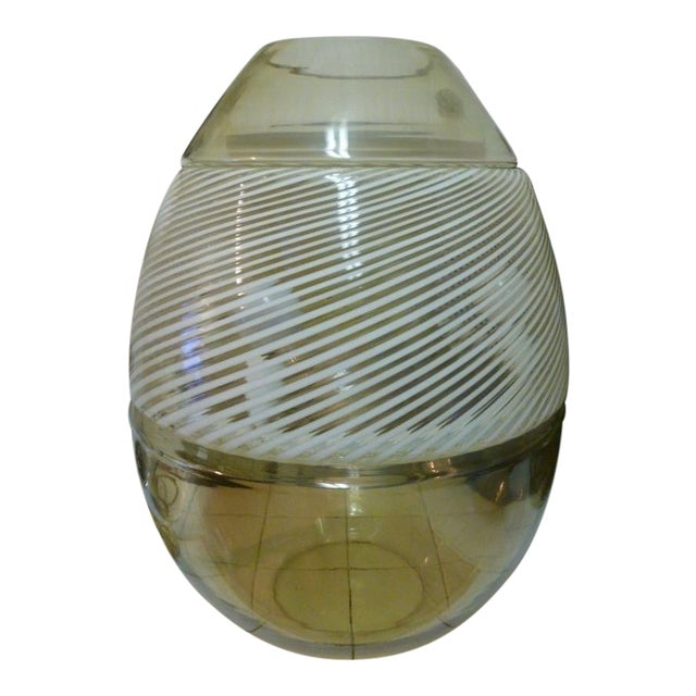 1970's Italian Murano Glass Mazzega Egg Lamp For Sale