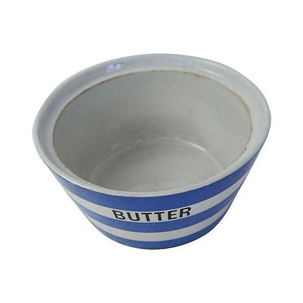 Vintage English Cornishware Butter Tub - Image 2 of 3