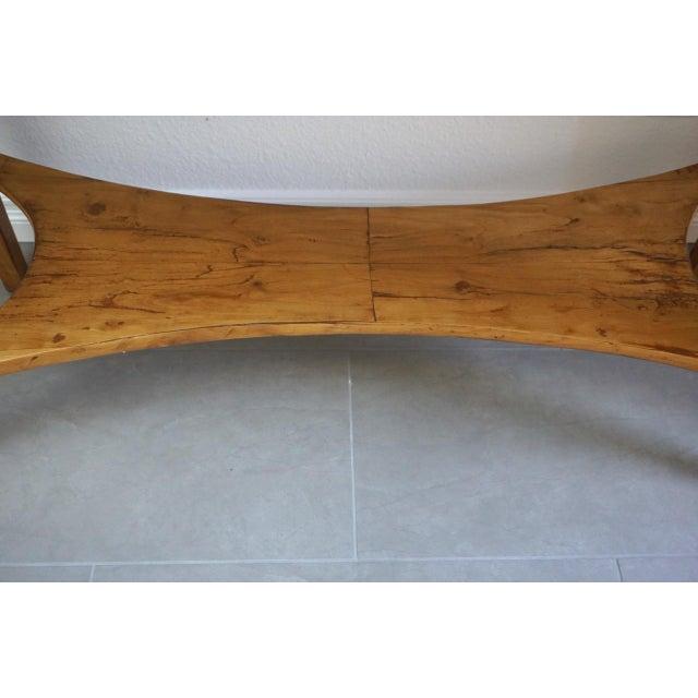 19th Century Austrian Biedermeier Birch Antique Pier Table For Sale - Image 4 of 13