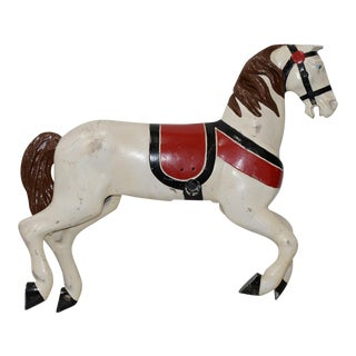 Antique Cast Iron Painted Carousel Horse