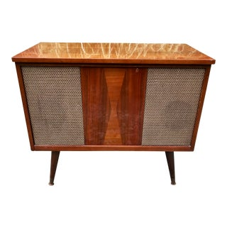 Mid Century Stereo Cabinet Radio Console For Sale