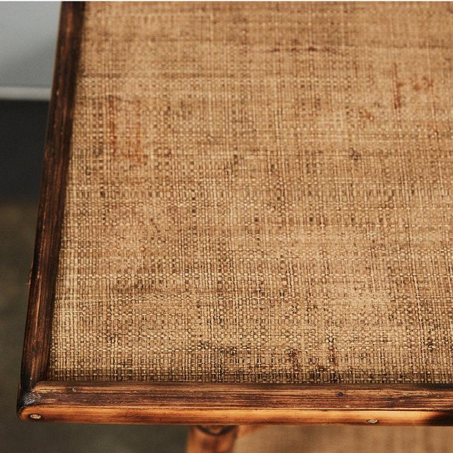 Modern JW Custom Line Tiger Bamboo Side Table For Sale - Image 3 of 4