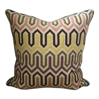 Jonathan Adler Embroidery & Velvet Pillow For Sale