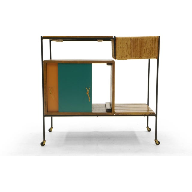 1950s Portable Bar Cart on Casters by Arthur Umanoff For Sale - Image 5 of 11