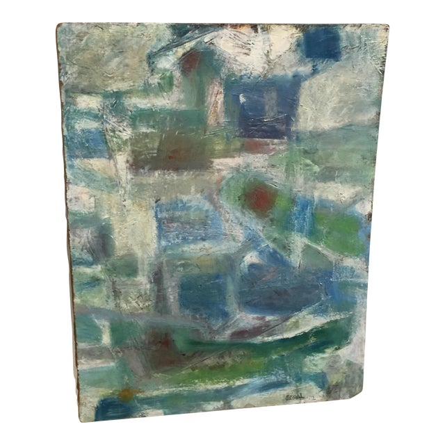 Segal Scandinavian Modern Abstract Painting - Image 1 of 9