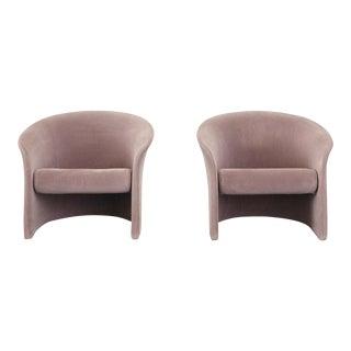 Vintage Mid Century Vignelli Rotonda Chairs- A Pair For Sale